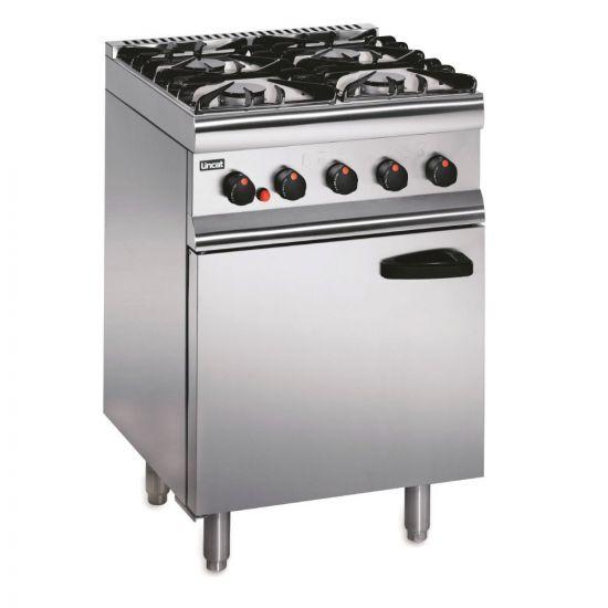 Silverlink 600 Natural Gas Free-standing Oven Range - Castors At Rear - 4 Burners - W 600 Mm - 23.8 KW LIN SLR6C-N