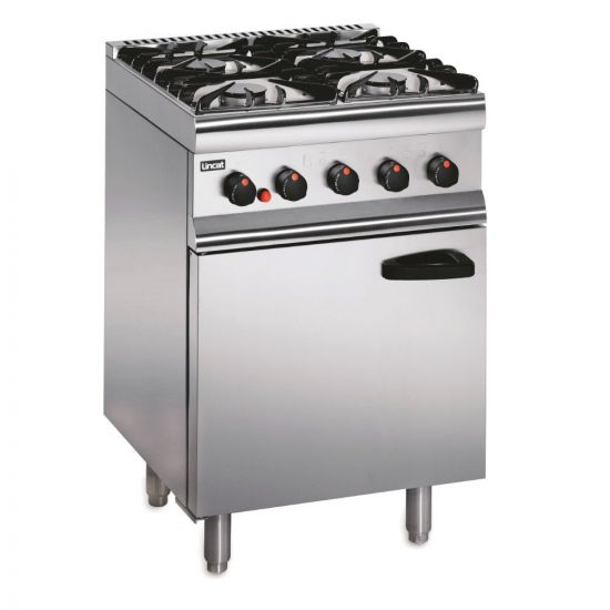 Silverlink 600 Natural Gas Free-standing Oven Range - Legs At Rear - 4 Burners - W 600 Mm - 23.8 KW LIN SLR6-N
