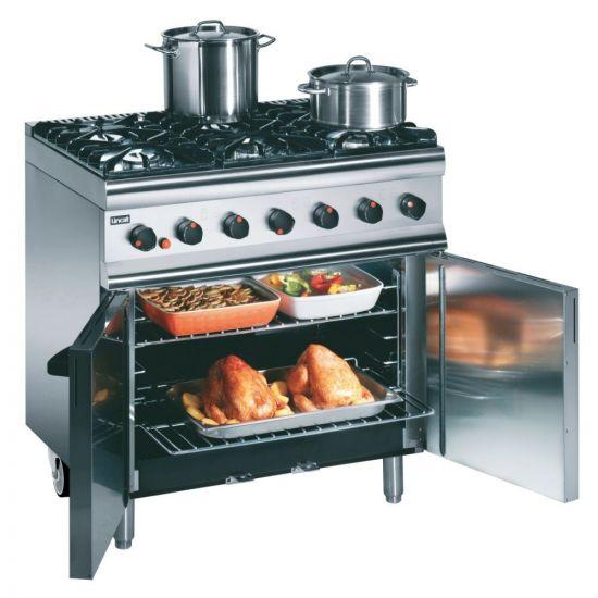 Silverlink 600 Natural Gas Free-standing Oven Range - Castors At Rear - 6 Burners - W 900 Mm - 35.5 KW LIN SLR9C-N