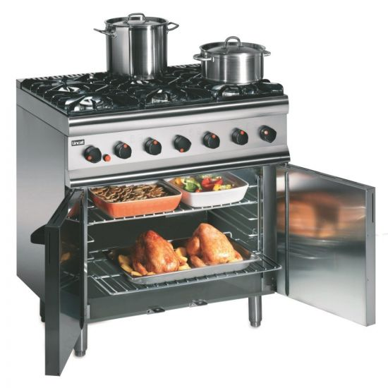 Silverlink 600 Natural Gas Free-standing Oven Range - Legs At Rear - 6 Burners - W 900 Mm - 35.5 KW LIN SLR9-N