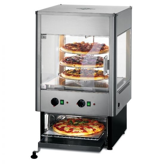Seal Counter-top Upright Heated Merchandiser With Oven - Rotating Rack - Two Doors - W 562 Mm - 2.8 KW LIN UMO50D