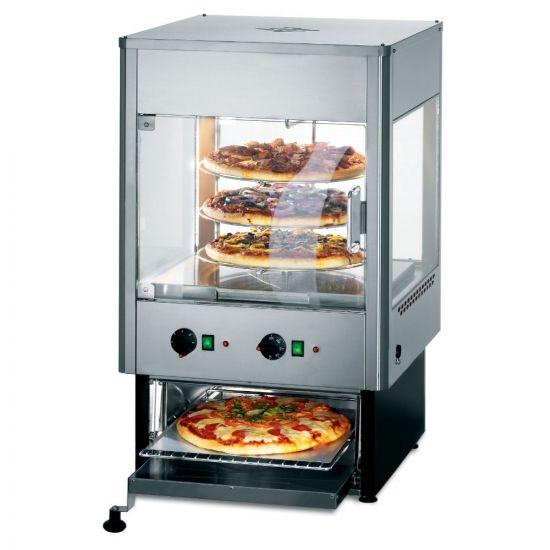 Seal Counter-top Upright Heated Merchandiser With Oven - Rotating Rack - Single Door - W 562 Mm - 2.8 KW LIN UMO50