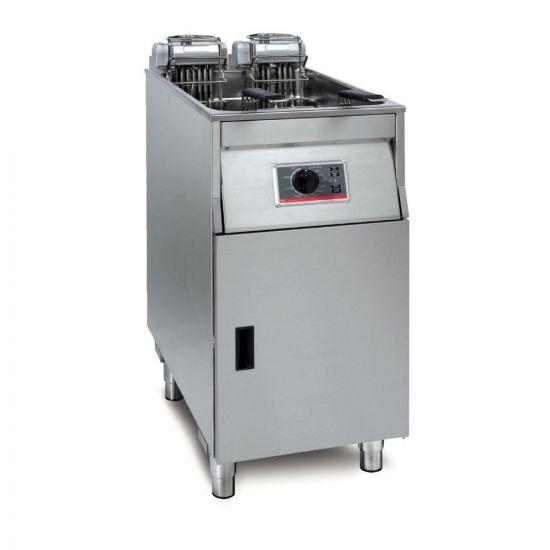 FriFri Basic+ 411 Electric Free-standing Single Tank Fryer - 2 Baskets - W 400 Mm - 15.0 KW LIN YF41100-B500