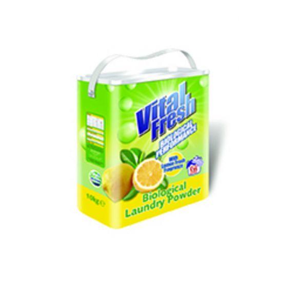 10 KG VITAL FRESH LEMON FRESH BIOLOGICAL LAUNDRY POWDER MIR 800-299-1150