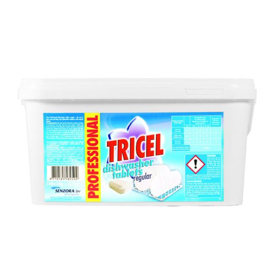 TRICEL PROF DISHWASH TABLETS REGULAR 18G MIR 800-300-5825