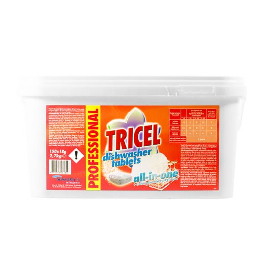 TRICEL PROF DISHWASH TABS ALL IN ONE 18G MIR 800-300-5828