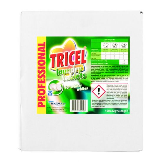 TRICEL BIOLOGICAL LAUNDRY TABLETS 100X32GM MIR 800-300-7941