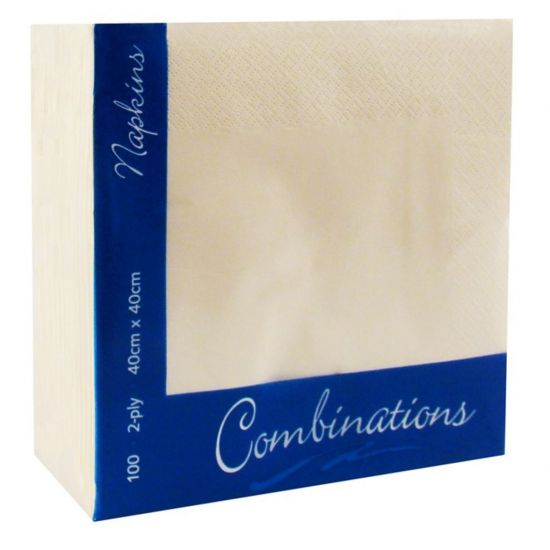 Champagne (40x40cm) - 4 Fold (SPD1263) Combinations 3 Ply Pack Of 1000 (20x50) POP 4034CPCOM