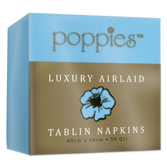 Airlaid Baby Blue 40cm Napkins - Pack Of 50 PAP4151