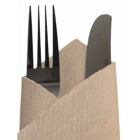 Gold Disposable Party Napkins 33cm 2ply - Pack Of 100