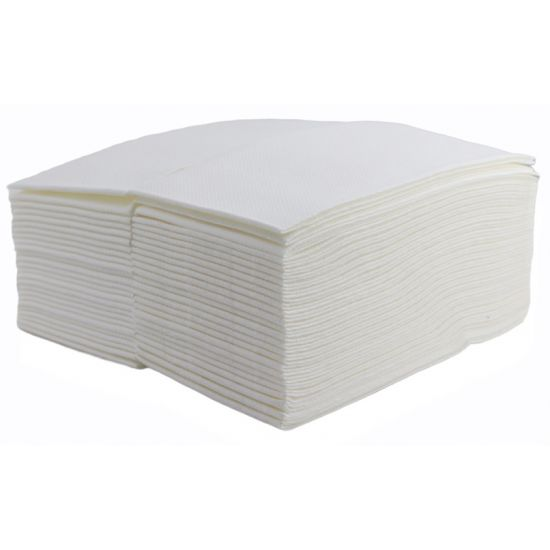 White Luxury Airlaid Paper Napkins / Hand Towels 40cm 8-Fold Pack of 50