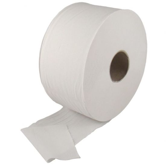 85mm X 100m Embossed - Core 60mm Mini Jumbo 2ply Toilet Rolls Pack Of 12 Rolls POP PR417