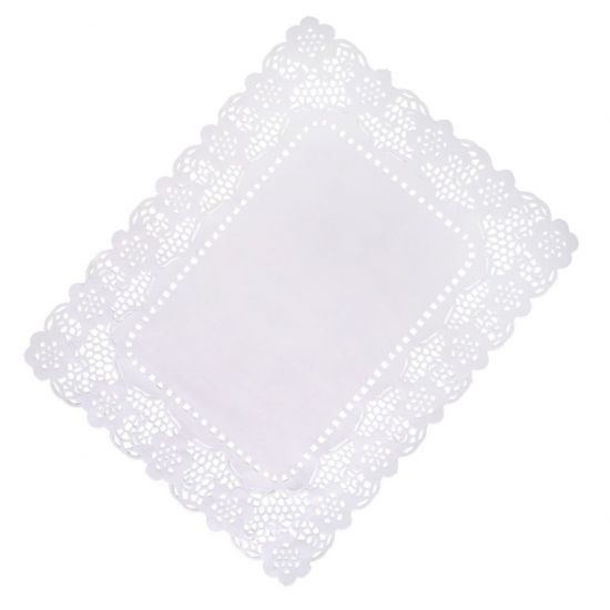 12 x 16 Inch White Lace Paper Tray Paper Pack of 1000 (4x250) POP SPD555