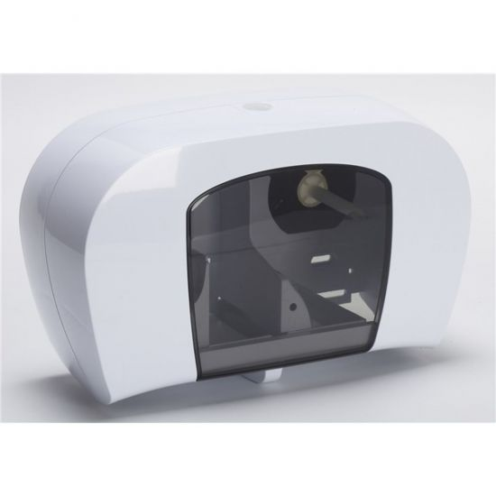 Twin Coreless Toilet Roll Dispenser Dispensers Pack Of 1 POP SPD617