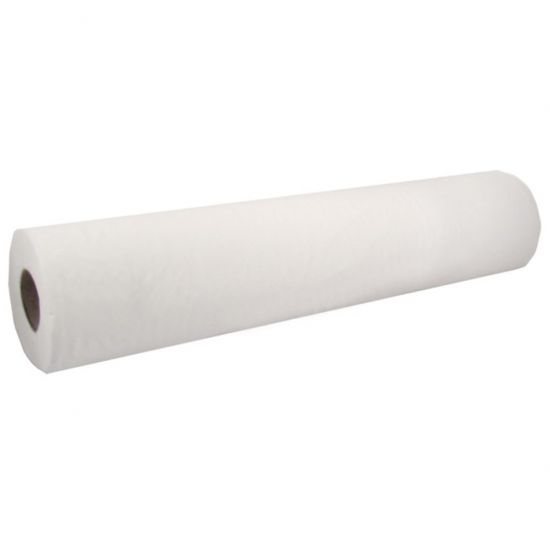 White 2ply 500mm X 50m Flat Core 45mm Couch Rolls Pack Of 9 POP T67