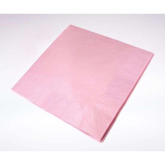 33cm 2Ply Serviettes - Pink Pack of 100 SWA C32P-P