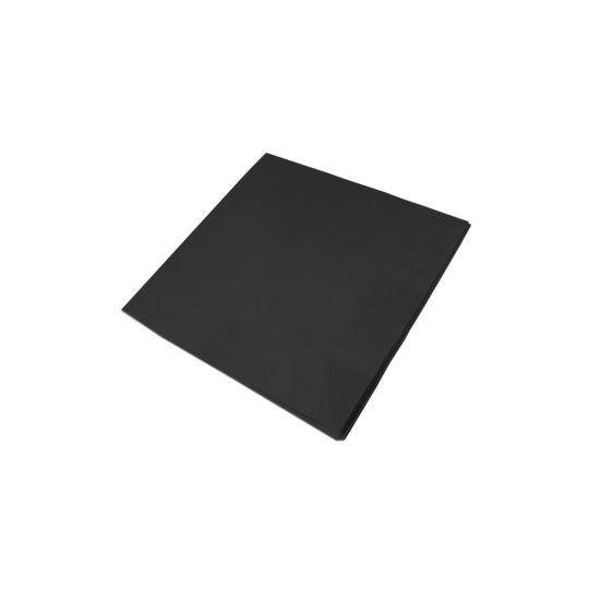 33cm 2Ply Serviettes - Black Pack of 100 SWA D32P-BK