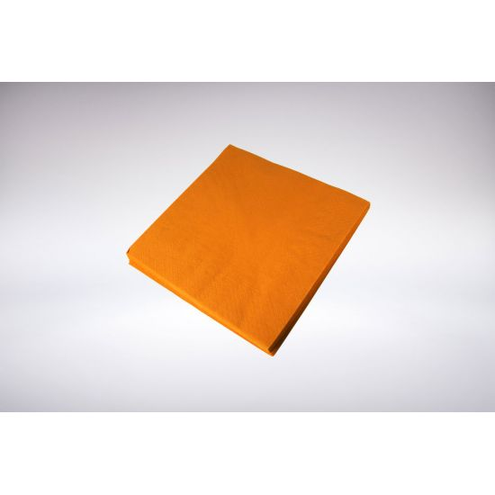 33cm 2Ply Serviettes - Orange Pack of 100 SWA D32P-OR