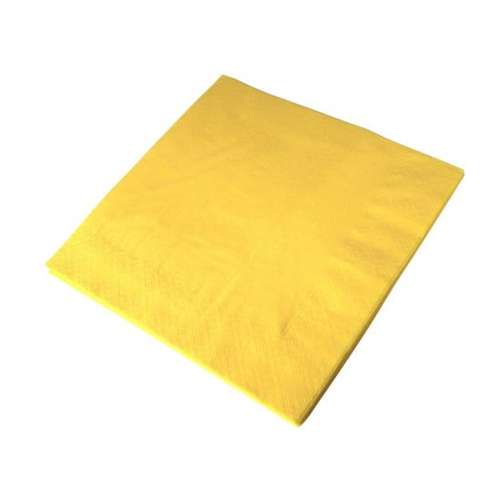 33cm 2Ply Serviettes - Sunshine Yellow Pack of 100 SWA D32P-SY
