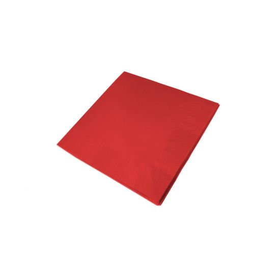 40cm 3Ply Serviettes - Red. Pack of 100 SWA D63P-R