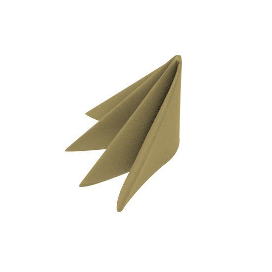 40cm Swansoft Gold Napkins Pack of 50 SWA PSOFT-GOL