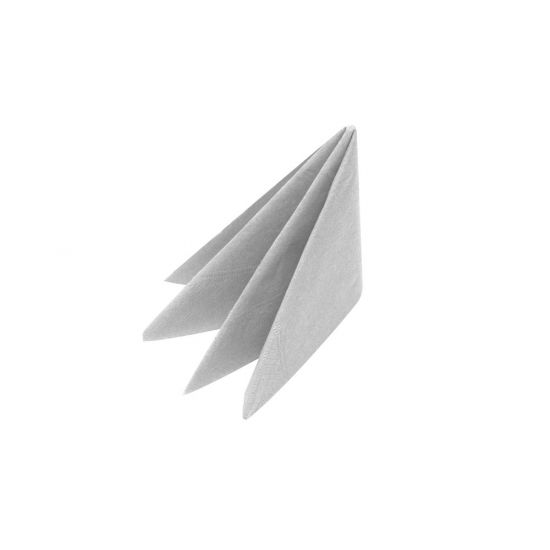 40cm 3Ply Silver Napkins In 600s Pack of 100 SWA X63-SIL