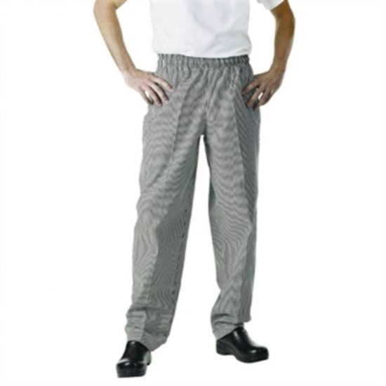 Chef Works Unisex Easyfit Chefs Trousers Small Black Check 2XL URO A026-XXL