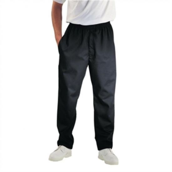 Chef Works Unisex Easyfit Chefs Trousers Black L URO A029-L