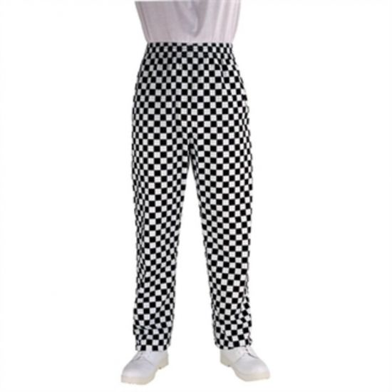 Chef Works Unisex Easyfit Chefs Trousers Big Black Check XS URO A042-XS