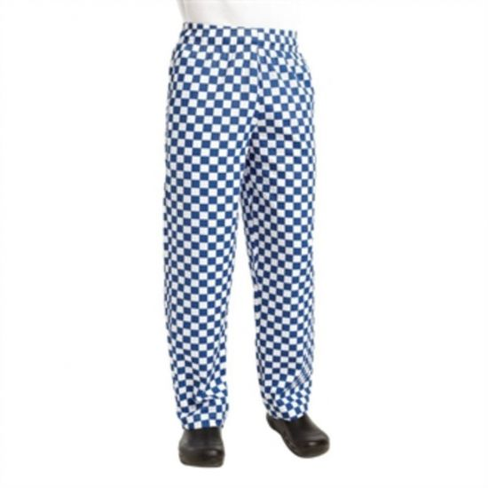 Chef Works Unisex Easyfit Chefs Trousers Big Blue Check S URO A043-S