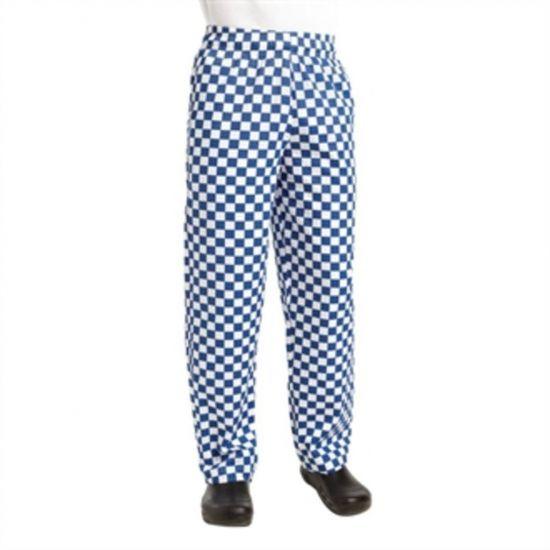 Chef Works Unisex Easyfit Chefs Trousers Big Blue Check XL URO A043-XL