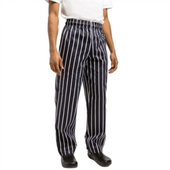 Chef Works Unisex Easyfit Chefs Trousers Butchers Stripe L URO A060-L