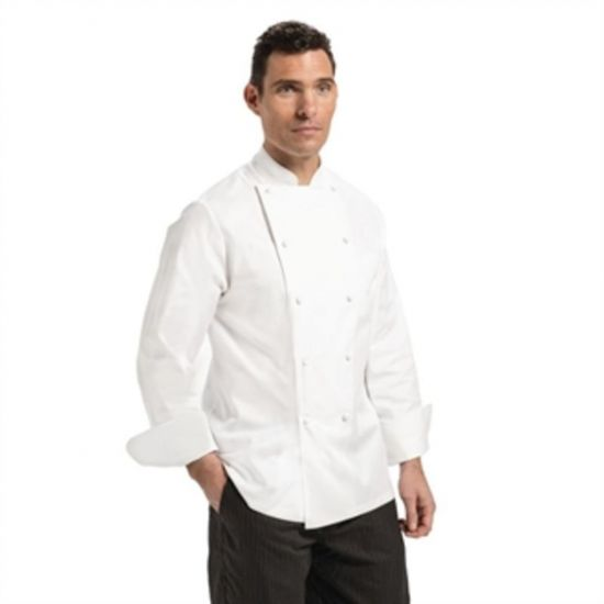 Chef Works Madrid Unisex Chef Jacket White 34 URO A099-34