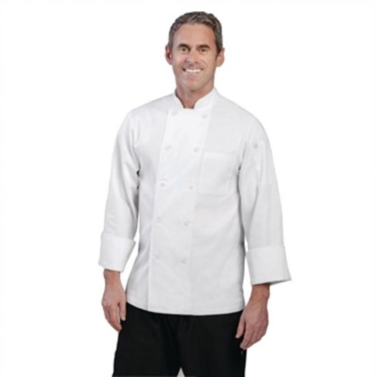 Chef Works Unisex Le Mans Chefs Jacket White S URO A371-S