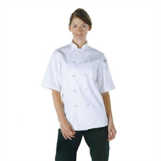 Chef Works Unisex Volnay Chefs Jacket White S URO A372-S