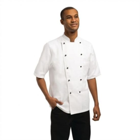 Chef Works Unisex Marche Chefs Jacket Short Sleeve L URO A374-L