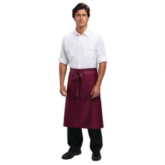 Uniform Works Regular Bistro Apron Burgundy URO A417