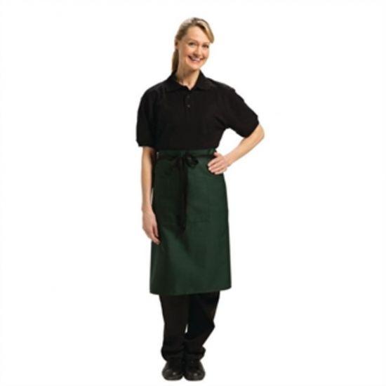 Uniform Works Regular Bistro Apron Green URO A418