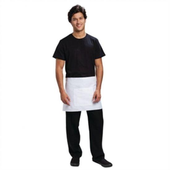 Uniform Works Short Bistro Apron White URO A424