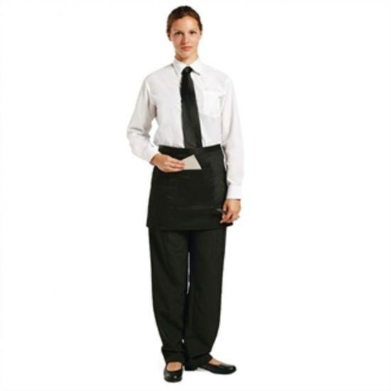 Uniform Works Short Bistro Apron Black URO A425