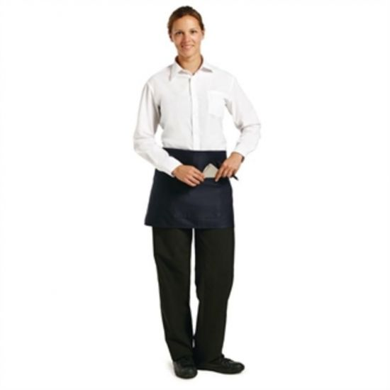 Uniform Works Short Bistro Apron Navy Blue URO A426