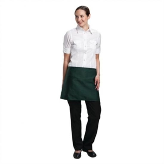 Uniform Works Short Bistro Apron Green URO A428