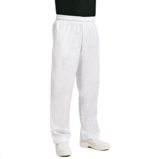 Chef Works Unisex Easyfit Chefs Trousers White S URO A575-S
