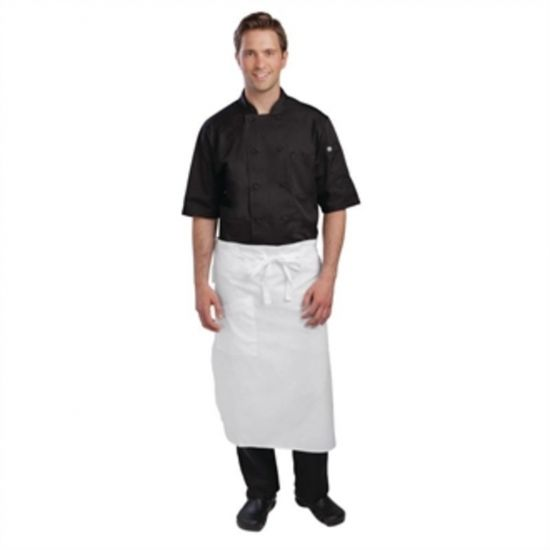 Chef Works Executive Chefs Tapered Apron White URO A576