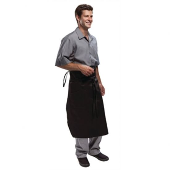 Chef Works Executive Chefs Tapered Apron Black URO A577