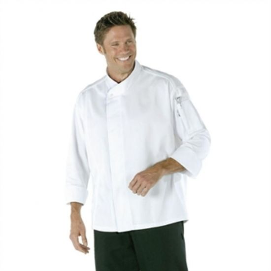 Chef Works Tours Cool Vent Unisex Chefs Jacket White M URO A598-M