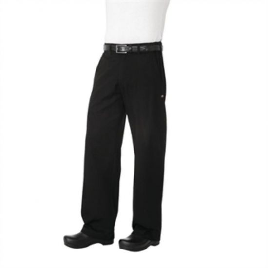 Chef Works Unisex Professional Series Chefs Trousers Black Herringbone 2XL URO A674-XXL