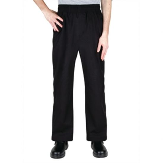 Chef Works Unisex Better Built Baggy Chefs Trousers Black L URO A695-L