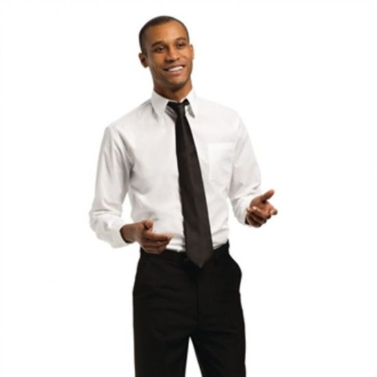 Uniform Works Unisex Long Sleeve Shirt White L URO A730-L