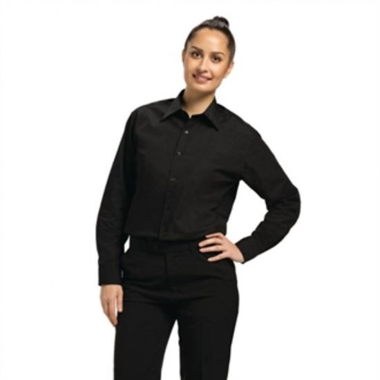 Uniform Works Uniex Long Sleeve Dress Shirt Black L URO A798-L